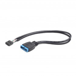 Gembird - CC-U3U2-01 cable USB 0,3 m USB A Negro