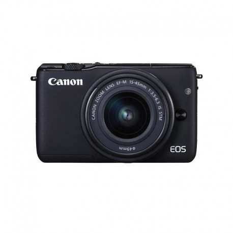 Canon - EOS M10 + EF-M 15-45mm f/3.5-6.3 IS STM MILC 18MP CMOS 5184 x 3456Pixeles Negro