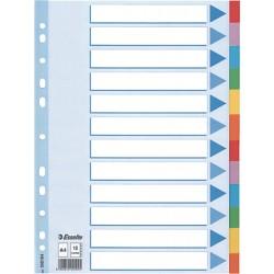 Esselte - Multi-coloured Cardboard Dividers divisor 10 pieza(s)