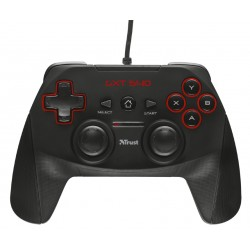 Trust - GXT 540 Gamepad PC,Playstation 3 RF Negro
