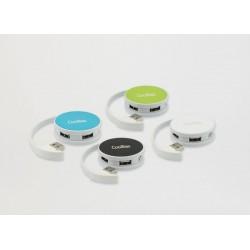 CoolBox - Round Hub 480Mbit/s Blanco nodo concentrador
