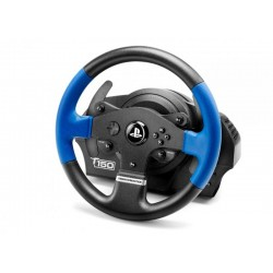 Thrustmaster - T150 Force Feedback Volante + Pedales PC,PlayStation 4,Playstation 3 USB Negro, Azul