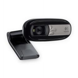 Logitech - C170 5MP 640 x 480Pixeles USB 2.0 Negro, Plata cámara web
