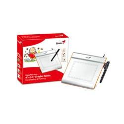 Genius - EasyPen i405X 2540líneas por pulgada 140 x 102mm USB Plata tableta digitalizadora