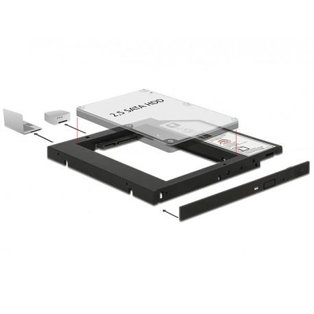 "DeLOCK - 62669 5.25"" Bezel panel Negro panel bahía disco duro"
