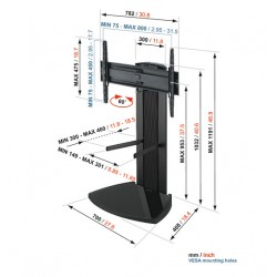 """Vogel's - EFF 8340 65"""" Fixed flat panel floor stand Negro"""