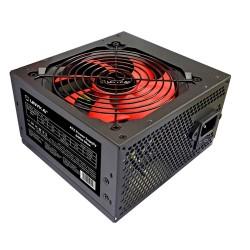 UNYKAch - ATX 600W Gaming unidad de fuente de alimentación 20+4 pin ATX Negro, Rojo