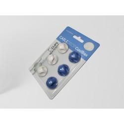 CoolBox - CABLEDROP Azul, Color blanco 6pieza(s) abrazadera para cable