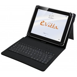e-Vitta - KeyTab USB teclado para móvil Español Negro