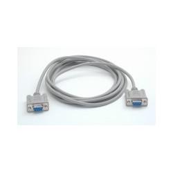 StarTech.com - Cable de Módem Nulo de Serie Cruzado 3m Null RS232 Serial - 2x Hembra DB9 - Gris