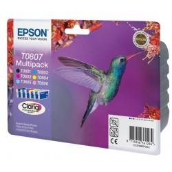 Epson - Hummingbird Multipack T0807 6 colores (etiqueta RF)