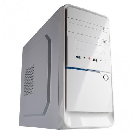 Hiditec - Q3 White Edition Micro-Tower Blanco carcasa de ordenador