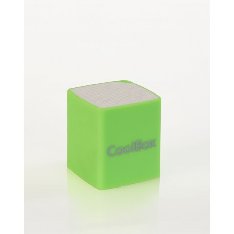 CoolBox - Cube Mini 2W Verde, Color blanco