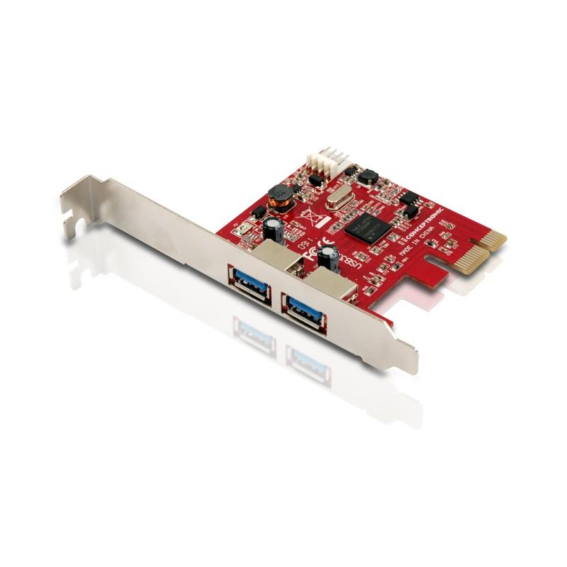 Conceptronic - CUSB3EXI tarjeta y adaptador