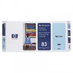 HP - Limpiador de cabezales de impresión y cabezal de impresión UV DesignJet 83 cian claro