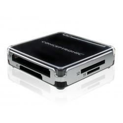 Conceptronic - CMULTIRWU2 lector de tarjeta Negro, Plata USB 2.0