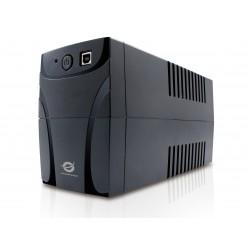 Conceptronic - CUPS650 sistema de alimentación ininterrumpida (UPS) 4 salidas AC Línea interactiva 650 VA 360 W