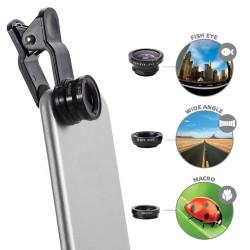 Celly - Clip&Click Negro lente de teléfonos móviles