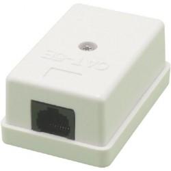 MCL - BM-CAT5E/1 Cat5e Blanco caja de conexiones de red