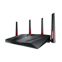 ASUS - RT-AC88U router inalámbrico Doble banda (2,4 GHz / 5 GHz) Gigabit Ethernet Negro