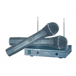 Brigmton - BMD-820 Karaoke microphone Inalámbrico Negro micrófono