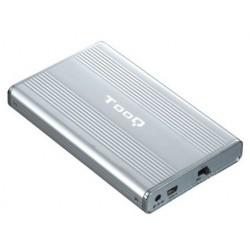 """TooQ - CAJA HDD 2.5"""" IDE/SATA A USB 2.0 PLATA"""