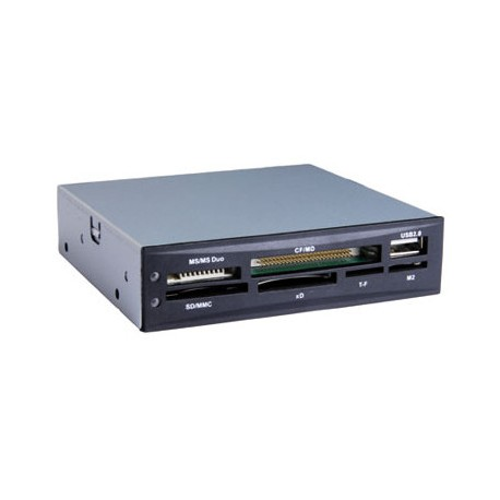 """TooQ - LECTOR DE TARJETAS 3,5"""", 6 SLOTS, 1 X USB, NEGRO lector de tarjeta"""