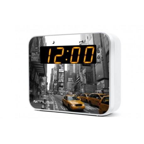 Muse - M-165 NY Reloj Analógica Gris, Color blanco radio