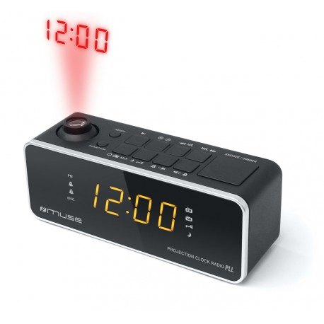Muse - M-188 P Reloj Digital Negro radio