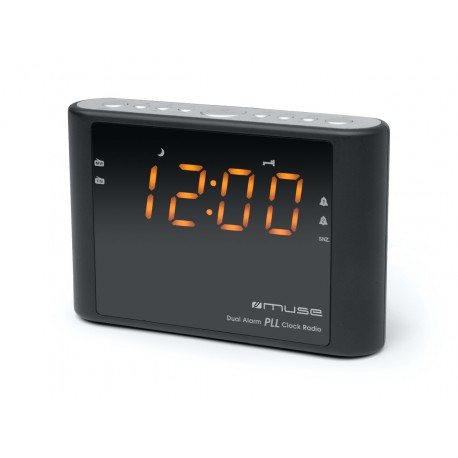 Muse - M-175 CR Reloj Digital Negro radio