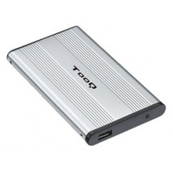 """TooQ - CAJA HDD 2.5"""" IDE A USB 2.0 PLATA"""