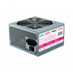3GO - PS502S 500W ATX Acero inoxidable unidad de fuente de alimentación