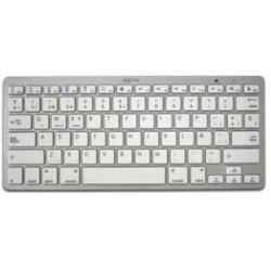 Approx - APPKBBT02S teclado Bluetooth QWERTY Español Plata, Blanco