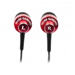 Mars Gaming - MIH1 auricular y casco Auriculares Dentro de oído Negro, Rojo