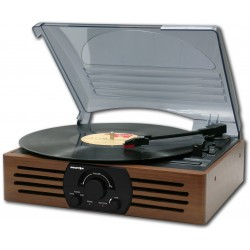 Brigmton - BTC-402 Direct drive audio turntable Negro, Madera tocadisco
