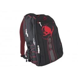 KeepOut - BK7R mochila Nylon Negro, Rojo