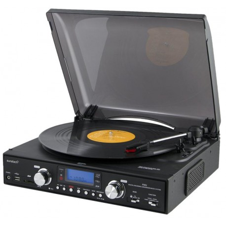 Sunstech - PXR2 Belt-drive audio turntable Negro