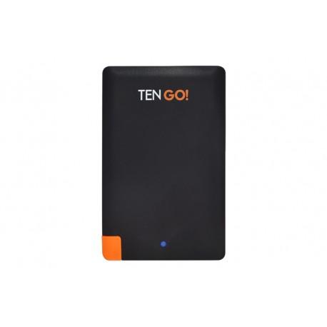 TenGO - RT3101BT Polímero de litio 2600mAh Negro, Naranja batería externa