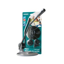 Eminent - Multimedia Microphone Alámbrico Negro