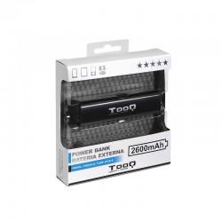 TooQ - TQPB-1026-B batería externa Negro Litio 2600 mAh