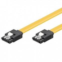 Ewent - 0.5m, 6GBs, SATA 3 cable de SATA 0,5 m SATA 7-pin Negro, Amarillo