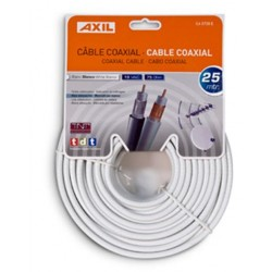 Engel Axil - CA0728E cable coaxial 25 m Blanco