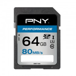 PNY - SDXC 64GB Performance 64GB SDXC UHS-I Clase 10 memoria flash