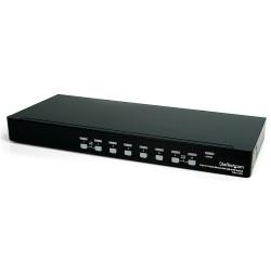 StarTech.com - Conmutador Switch KVM 8 Puertos de Vídeo DVI USB 2.0 USB B - 1U Rack Estante