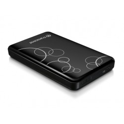 Transcend - StoreJet 25A3K 1000GB Negro, Color blanco disco duro externo