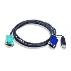 Aten - 2L5203U cable para video, teclado y ratón (kvm) Negro 3 m