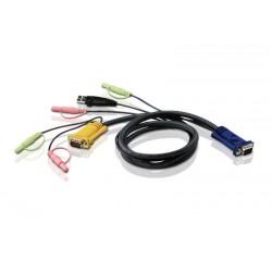 Aten - 2L5302U cable para video, teclado y ratón (kvm) Negro 1,8 m