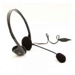 Ewent - EW3563 Binaural Diadema Negro auricular con micrófono