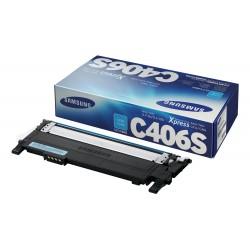Samsung - CLT-C406S cartucho de tóner Original Cian 1 pieza(s)