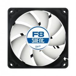 ARCTIC - F8 Silent Carcasa del ordenador Ventilador 8 cm Negro, Blanco